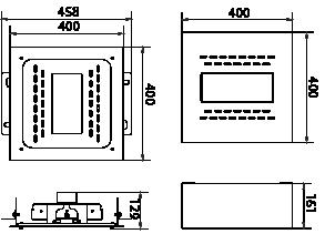 Proiettore a led serie CA 80W - Disegno tecnico